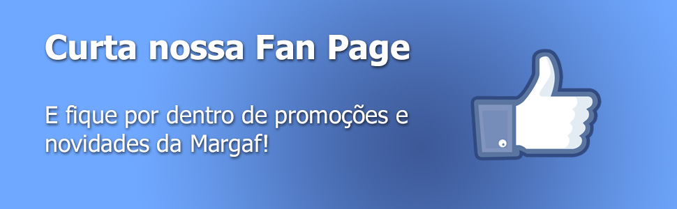 Curta a fan page da Margaf no Facebook